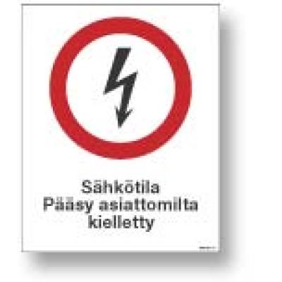 Sähkötila Pääsy asiattomilta kielletty