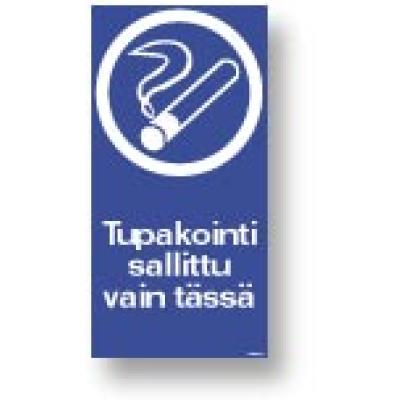 Tupakointi sallittu vain tässä